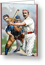 Baseball Player At Bat Greeting Card by Unknown
