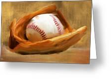 Baseball V Greeting Card by Lourry Legarde