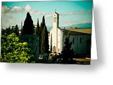 Basilica In Assisi Greeting Card by Raimond Klavins