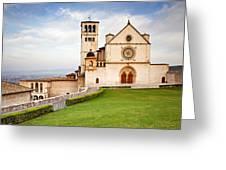 Basilica Of Saint Francis Greeting Card by Susan Schmitz