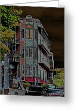 Basin Park Hotel Greeting Card by Jan Amiss Photography