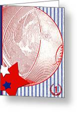 Basketball Americana Greeting Card by ArtyZen Kids
