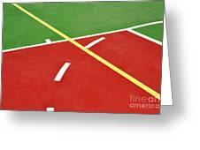 Basketball Court Greeting Card by Luis Alvarenga