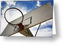 Basketball Hoop Greeting Card by Bernard Jaubert