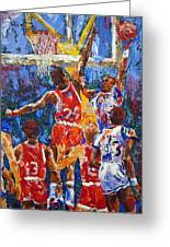 Basketball No 1 Greeting Card by Walter Fahmy