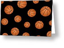 Basketball Pattern Greeting Card by Li Or