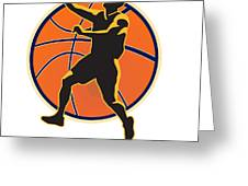 Basketball Player Lay Up Ball Greeting Card by Aloysius Patrimonio