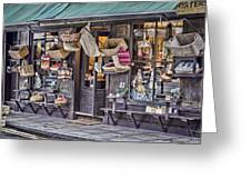 Baskets For Sale Greeting Card by Heather Applegate