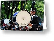 Bass Drums On Parade Greeting Card by Susan Savad
