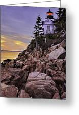 Bass Head Lighthouse Greeting Card by Thomas Schoeller