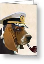 Basset Hound Seadog Greeting Card by Kelly McLaughlan