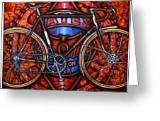 Bates Bicycle Greeting Card by Mark Howard Jones