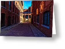 Bates Mill Lewiston Maine Greeting Card by Bob Orsillo