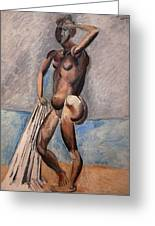 Bather Greeting Card by Pablo Picasso