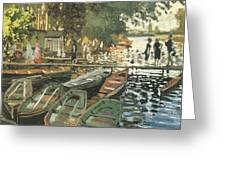 Bathers At La Crenovillere Greeting Card by Claude Monet