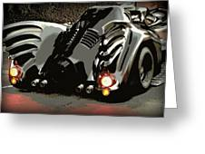 Batmobile 2 Greeting Card by Cathy Smith