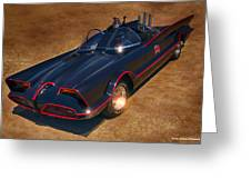 Batmobile Greeting Card by Tommy Anderson
