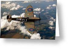 Battle Of Britain Spitfire Greeting Card by Gary Eason
