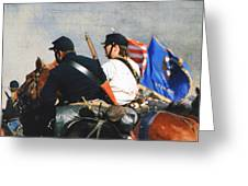 Battle of Franklin - 2 Greeting Card by Kae Cheatham