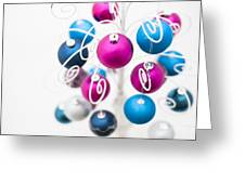 Baubles From Above Greeting Card by Anne Gilbert