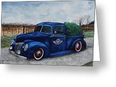 Baxter Truck Greeting Card by Stacey Pilkington-Smith