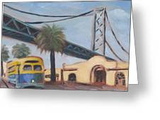 Bay Bridge Greeting Card by James Lopez