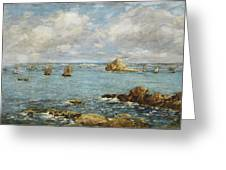 Bay Of Douarnenez Greeting Card by Eugene Louis Boudin