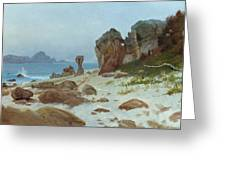 Bay Of Monterey Greeting Card by Albert Bierstadt
