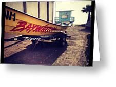 Baywatch Greeting Card by Selia Hansen
