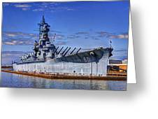 Bb-60 Uss Alabama Greeting Card by Barry Jones