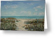 Beach Access Greeting Card by Stanton Allaben