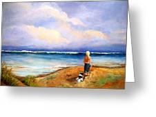 Beach Buddies Greeting Card by Susan M Fleischer