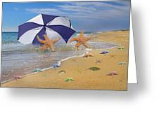 Beach Bums Greeting Card by Betsy A  Cutler