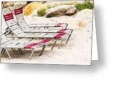 Beach Chairs Greeting Card by Bernard  Barcos