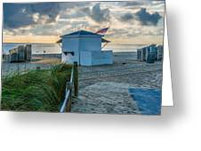 Beach Entrance to Old Glory Greeting Card by Ian Monk