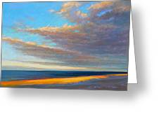 Beach Front Greeting Card by Ed Chesnovitch