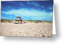Beach Guard - Sylt Greeting Card by Hannes Cmarits