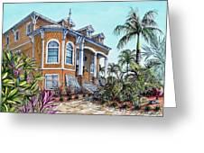 Beach House Greeting Card by Joan Garcia