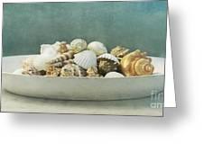 Beach In A Bowl Greeting Card by Priska Wettstein