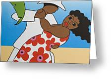 Beach Party Greeting Card by Trudie Canwood