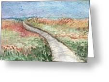 Beach Path Greeting Card by Linda Woods
