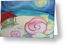 Beach Rose Greeting Card by Teresa Hutto