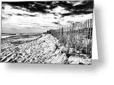 Beach Side Cape May Greeting Card by John Rizzuto