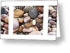 Beach Stones Triptych Greeting Card by Stylianos Kleanthous
