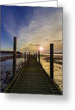 Beach Sunrise V2 Greeting Card by Ian Mitchell