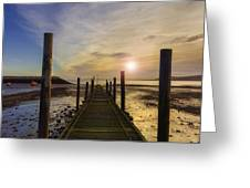 Beach Sunrise v2 Greeting Card by Ian Mitchell
