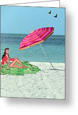 Beach Vacation Greeting Card by Rosalie Scanlon