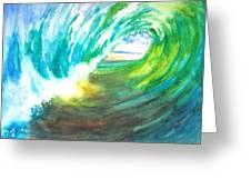 Beach View From Wave Barrel Greeting Card by Carlin Blahnik