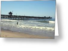 Beach View With Pier 2 Greeting Card by Ben and Raisa Gertsberg
