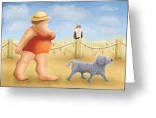 Beach Walk Greeting Card by Marlene Watson